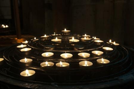 Candles in Notre-Dame de Paris Stock Photo - 9804011