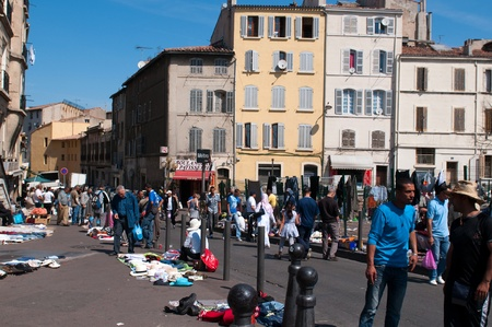 MARSEILLE, FRANCE - MAY 22, 2011: Flea market in Marseille on May 22, 2011, France Stock Photo - 9707719