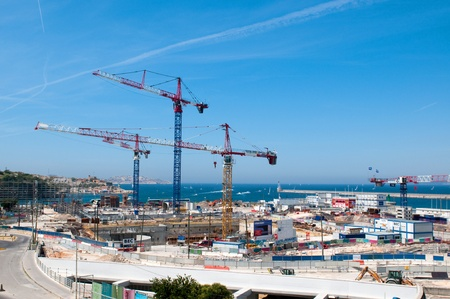MARSEILLE, FRANCE - MAY 22, 2011: Big construction in port of Marseille on May 22, 2011, France