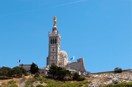 MARSEILLE, FRANCE - MAY 22, 2011: Many peoples every day visit the basilica Notre-Dame de la Garde on May 22, 2011, Marseille, France Stock Photo - 9707726