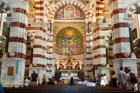 MARSEILLE, FRANCE - MAY 22, 2011: Interior of Notre-Dame de la Garde, main religious place in Marseille on May 22, 2011, France Stock Photo - 9707766
