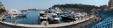 MONACO - MAY 23, 2011: Port Hercules and part of Formula1 Monte-Carlo track in Monaco on May 23, 2011, Monaco.