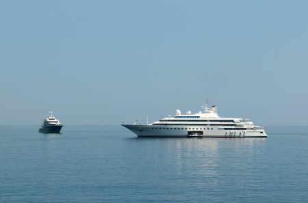 MONACO - MAY 23, 2011: One of the worlds top mega yacht Lady Moura  in  Monaco water area on May 23, 2011, Monaco.