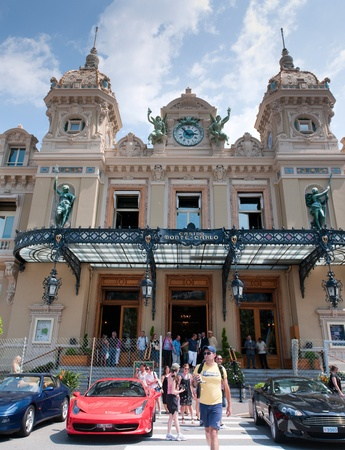 MONACO - MAY 23, 2011: Grand Casino in Monte Carlo on May 23, 2011, Monaco.  Many peoples every day visit this casino - most famous casino in the world Stock Photo - 9707787