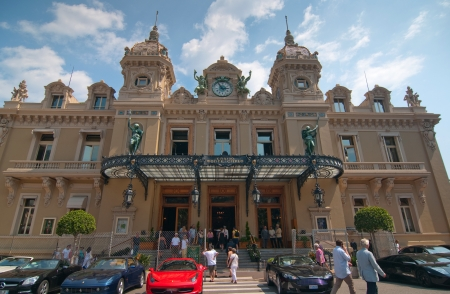 MONACO - MAY 23, 2011: Grand Casino in Monte Carlo on May 23, 2011, Monaco.  Many peoples every day visit this casino - most famous casino in the world Stock Photo - 9707713