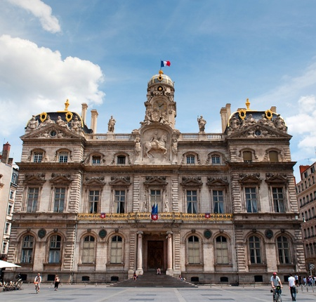 LYON, FRANCE - MAY 24, 2011: City hall of the Lyon (Hotel de Ville) - one of the largest historic building in the city on May 24, 2011, France Editorial