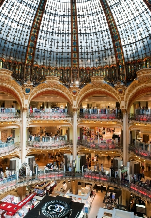 departmentstore: PARIS, FRANCE - MAY 26, 2011: Old (classic) part of Lafayette department store in Paris on May 26, 2011, France.