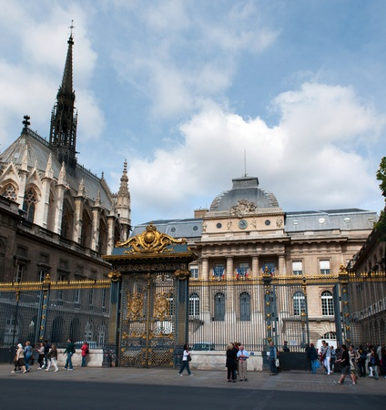 PARIS, FRANCE - MAY 28, 2011: Palace of Justice and Holy Chapel church in Paris on May 28, 2011, France