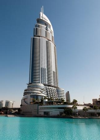 tall building: The modern hotel at Downtown Burj Dubai, Dubai, United Arab Emirates Editorial