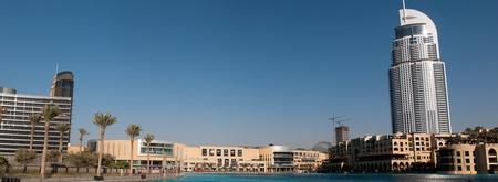The Dubai Mall is the world s largest shopping mall and new modern hotel address at Downtown Burj Dubai, Dubai, United Arab Emirates