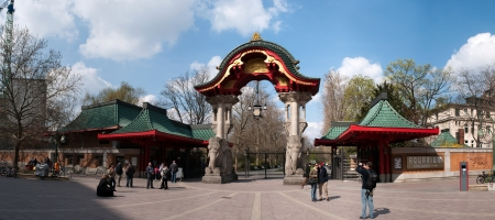 BERLIN, GERMANY - April, 14: entrance to Berlin ZOO garden in Berlin, Germany