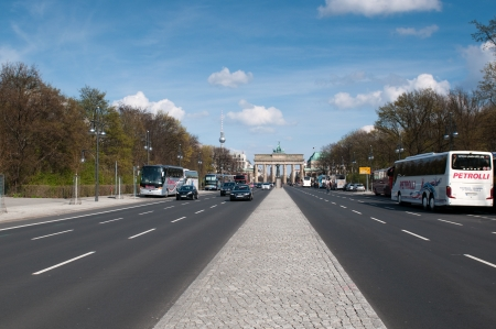 BERLIN, GERMANY - April, 14: The Brandenburger Tor (Brandenburg Gate) is the ancient gateway to Berlin, Germany