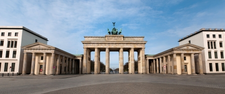 The Brandenburger Tor (Brandenburg Gate) is the ancient gateway to Berlin, Germany photo