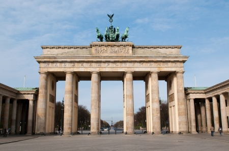 brandenburg: The Brandenburger Tor (Brandenburg Gate) is the ancient gateway to Berlin, Germany