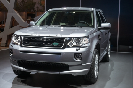 MOSCOW, RUSSIA - August 31: Moscow International Automobile Salon 2012. Land Rover Freelander 2 new  - world premiere