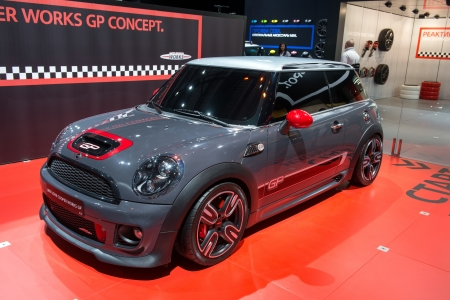 MOSCOW, RUSSIA - August 31: Moscow International Automobile Salon 2012. MINI John Cooper Works GP