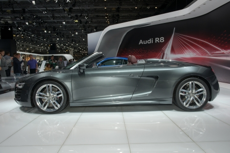 MOSCOW, RUSSIA - August 31: Moscow International Automobile Salon 2012. Audi R8 Spyder - world premiere
