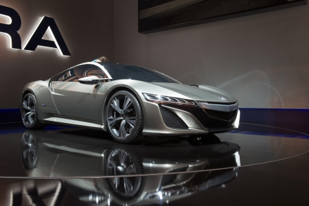 acura: MOSCOW, RUSSIA - August 31: Moscow International Automobile Salon 2012. Acura NSX Hybrid Concept Editorial