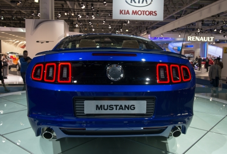 mustang gt: MOSCOW, RUSSIA - August 31: Moscow International Automobile Salon 2012. Ford Mustang GT