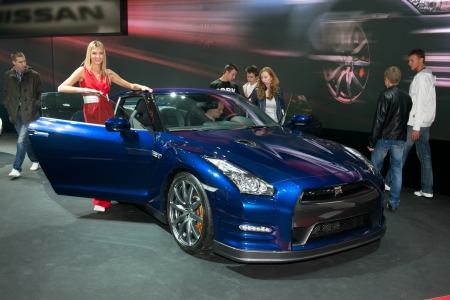 nissan: MOSCOW, RUSSIA - August 31: Moscow International Automobile Salon 2012. Nissan GT-R