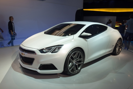 chevrolet: MOSCOW, RUSSIA - August 31: Moscow International Automobile Salon 2012. Chevrolet TRU 140s concept Editorial