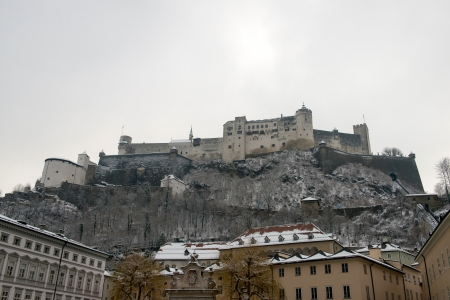 Hohensalzburg Castle at Salzburg, Austria Stock Photo - 18671885