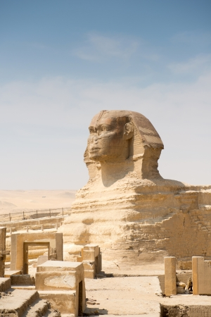 Famous ancient statue of Sphinx in Giza, Egypt  photo