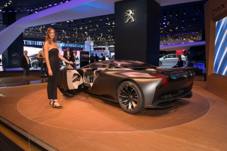 FRANKFURT, GERMANY - SEPTEMBER 11: Frankfurt international motor show (IAA) 2013. Peugeot Onyx concept car