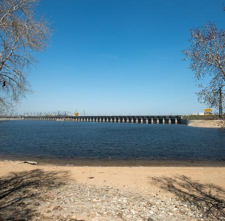 volzhskiy: Il Volga idroelettrica Station - la pi� grande centrale idroelettrica in Europa. Volgograd, Russia.