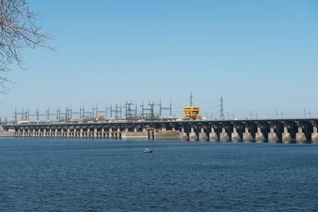 volzhskiy: The Volga Hydroelectric Station - largest hydroelectric station in Europe. Volgograd, Russia.
