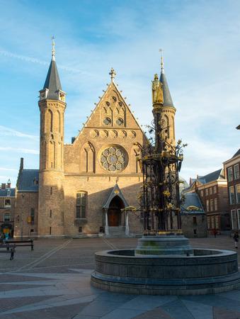 nederland: HAGUE, NETHERLANDS - December 16: old knight hall Ridderzaal in Hague, Holland at 16 december 2013