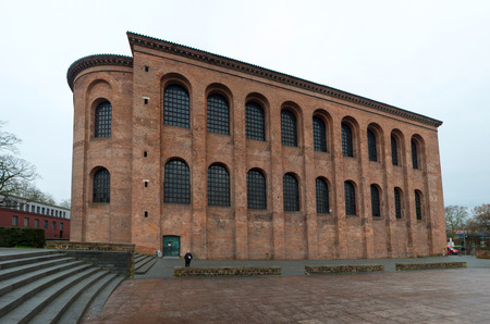 paulus: TRIER, GERMANY - DECEMBER 18: Basilica of Constantine (Aula Palatina) in Trier, Germany on Dec 18, 2013
