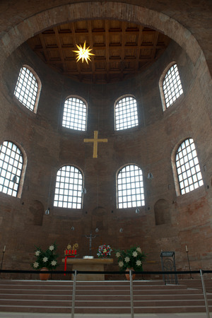 constantine: Interior of Basilica of Constantine (Aula Palatina) in Trier, Germany