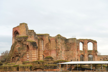 tourisms: Ancient Roman baths ruins in Trier, Germany