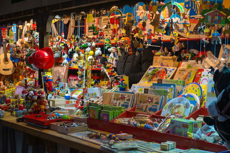 TRIER, GERMANY - DECEMBER 18:  Store at Christmas Markets in Trier, Germany on Dec 18, 2013