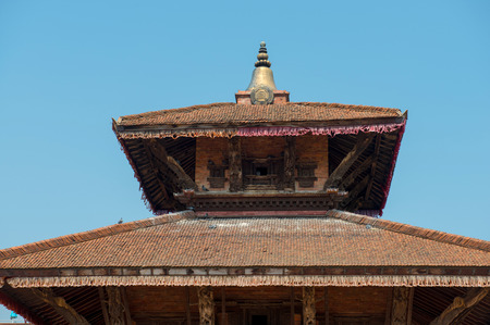 closed society: Krishna temple on a Durbar square of Bhaktapur on May 09, 2014. Bhaktapur  is a cultural gem in Nepal.