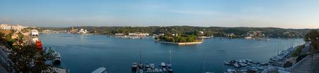 menorca: View of the port of Mahon, Menorca, Spain,