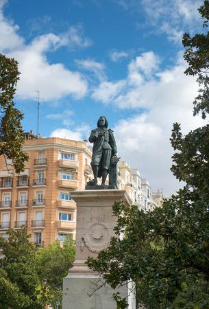 bartolome: Statue of Bartolome Esteban Murillo - Spanish Baroque painter in Madrid, Spain Editorial