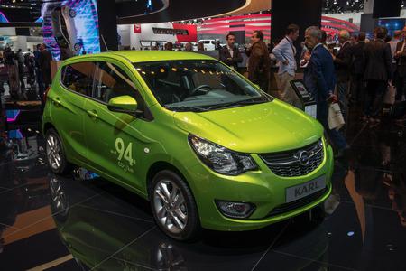 karl: FRANKFURT, GERMANY - SEPTEMBER 16, 2015: Frankfurt international motor show (IAA) 2015. Opel Karl Editorial