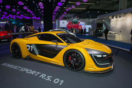 01: FRANKFURT, GERMANY - SEPTEMBER 16, 2015: Frankfurt international motor show (IAA) 2015. Renault Sport R.S. 01 concept car