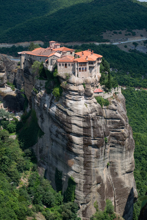 kalambaka: The Holy Monastery of Varlaam in Meteora - complex of Eastern Orthodox monasteries, Greece Stock Photo