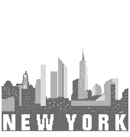 new york skyline: Skyline of the city of New York Illustration