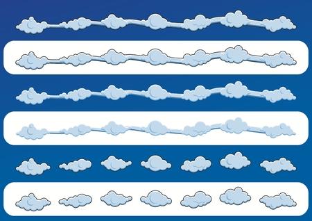nebulous: Cute blue clouds illustration