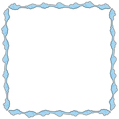 nebulous: Frame consists of clouds illustration. Isolated on white background Illustration