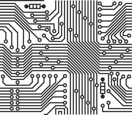 Vector seamless pattern - electronic circuit print board