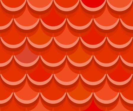 Nahtlose rote Lehm Terrakotta Dachziegel.