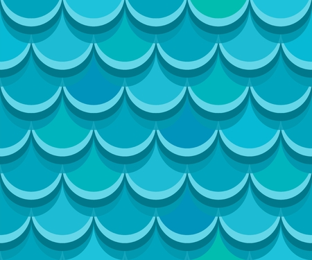 Seamless shingle roof tiles. Vector pattern