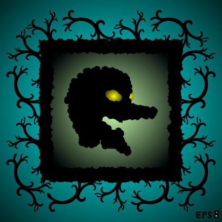 soiree: dark face Illustration