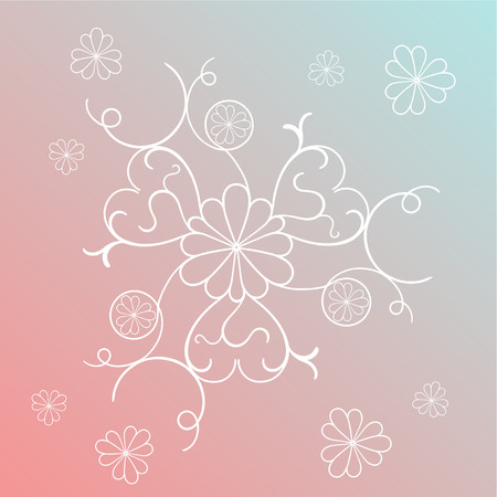 Fancy abstract image with hearts on the petals of flowers Иллюстрация