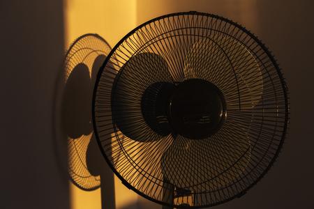 Black stand electric fan